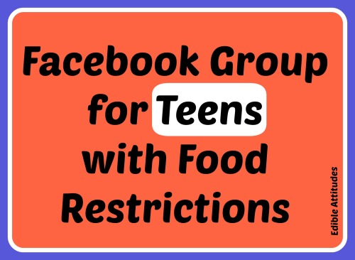FacebookGroupForTeensWithFoodRestrictions